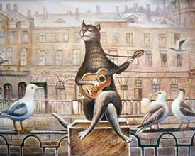 Кот с чайками