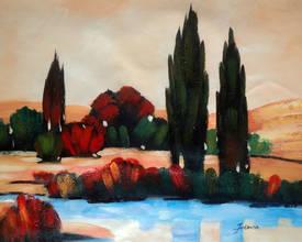 Кипарисы у озера