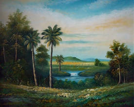 Пейзаж с пальмами