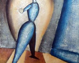 Голубая женщина