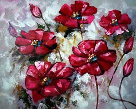 Красные петунии